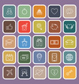 family flat icons on purple background vector image