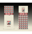 Banners or with strap buckle geometric pattern ret vector image