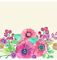 Colorful floral card with leaves and flowers vector image