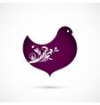 Floral bird vector image