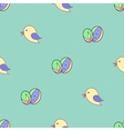 Bird Easter eggs seamless background vector image