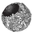 Hipster Doodle Monster Collage Background vector image