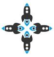 Rockets Flat Icon vector image