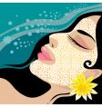 girl in the spa vector image