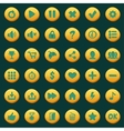 Collection of cartoon menu buttons vector image