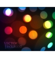 defocused christmas lights vector image