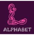 Doodle hand drawn sketch alphabet Letter L vector image