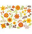 Autumn Floral Set vector image