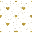 Golden hearts seamless pattern vector image