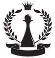 chess pawn vector image vector image