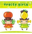 fruity girls series 4 orange lemon vector image vector image