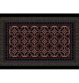 Mottled oriental carpet with original pattern vector image