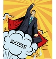 Businessman super hero flying with briefcase vector image