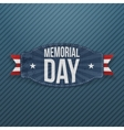 Memorial Day patriotic Label with Text vector image