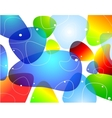 Abstract blobs water background vector image
