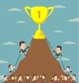 Business Men in Career Race vector image