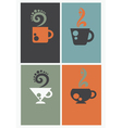 caffee cards vector image