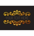 Hand drawn gold textured decorative border vector image