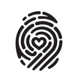 heart fingerprint 01 vector image