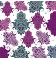 Seamless arabic hamsa hand background vector image