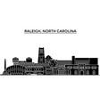 usa raleigh north carolina architecture vector image