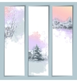 Watercolor Winter Banners vector image