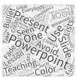 Teaching With Powerpoint Word Cloud Concept vector image