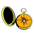 vintage compass icon icon cartoon vector image