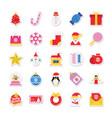 christmas and celebration colored icons 1 vector image
