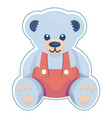 teddy bear in overall vector image