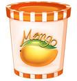 mango in orange cup vector image