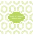 Abstract green fabric textured honeycomb cutout vector image vector image