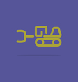Linear tractor icon vector image