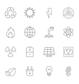 Eco energy outline icons vector image