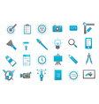 Graphic design gray blue icons set vector image