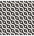 Seamless Black And White Diagonal Wavy vector image