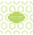 Abstract green fabric textured honeycomb cutout vector image