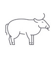 bull line icon sign on vector image