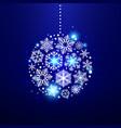 decorative christmas snowflakes vector image