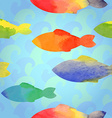 Fishes watercolor vector image