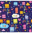 gift wrapping paper cartoon seamless pattern vector image