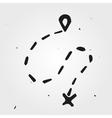 Hand drawn sign navigation vector image