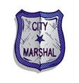 marshal badge vector image