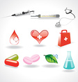 medical elements vector image