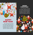 merry christmas and happy new year posters vector image