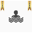 swimming pool icon vector image
