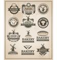 Vintage Retro Bakery Label Set vector image