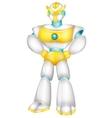Robot cartoon posing vector image