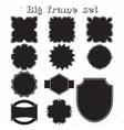 Big set of monochrome frames vector image
