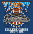 Varsity football college vector image